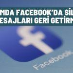 Facebook'da silinen mesajları geri getirme